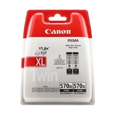 Inkoustová náplň Canon PGI-570PGBKXL černá 2 ks