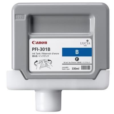 Inkoustová náplň Canon PFI-301B modrá