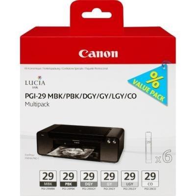 Inkoustová náplň Canon PGI-29 MBK BK DGY GY LGY CO