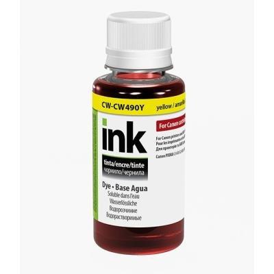 Inkoustová náplň ColorWay za Canon GI-490Y žlutá
