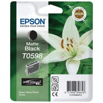 Inkoustová náplň Epson T0598 matná černá