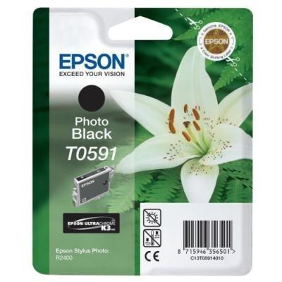 Inkoustová náplň Epson T0591 foto černá