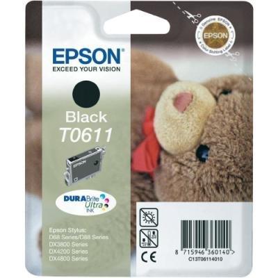 Inkoustová náplň Epson T0611 černá