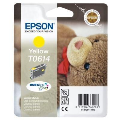 Inkoustová náplň Epson T0614 žlutá