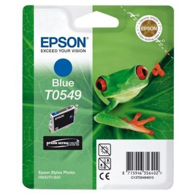 Inkoustová náplň Epson T0549 modrá