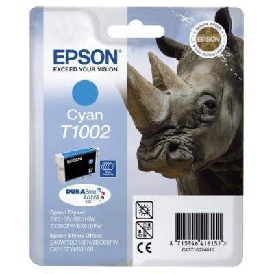 Inkoustová náplň Epson T1002 modrá