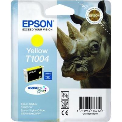 Inkoustová náplň Epson T1004 žlutá