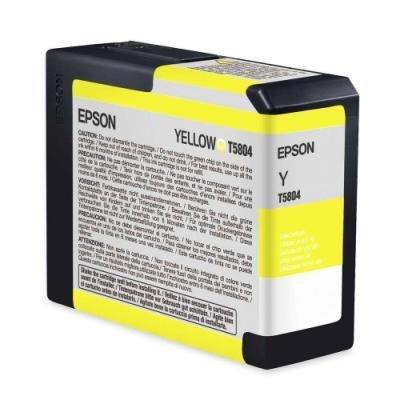 Inkoustová náplň Epson T5804 žlutá
