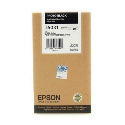Inkoustová náplň Epson T6031 foto černá
