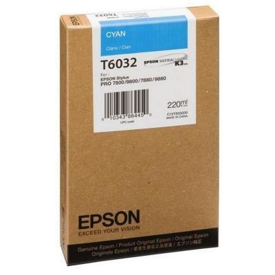 Inkoustová náplň Epson T6032 modrá