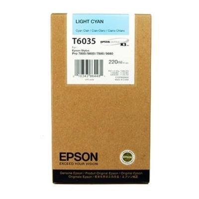 Inkoustová náplň Epson T6035 světlá modrá
