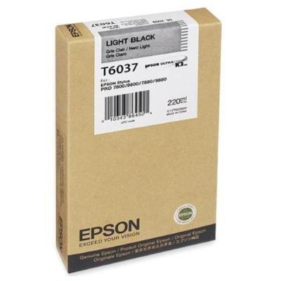 Inkoustová náplň Epson T6037 světlá černá