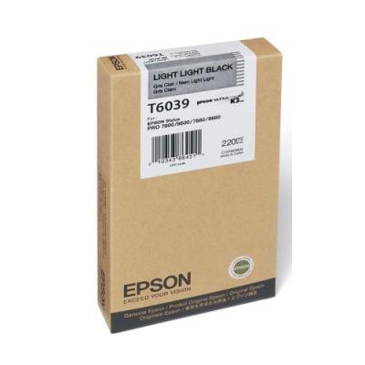 Inkoustová náplň Epson T6039 světle světlá černá