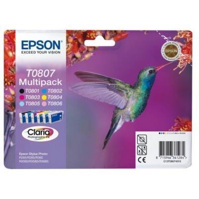 Inkoustová náplň Epson T0807 multipack