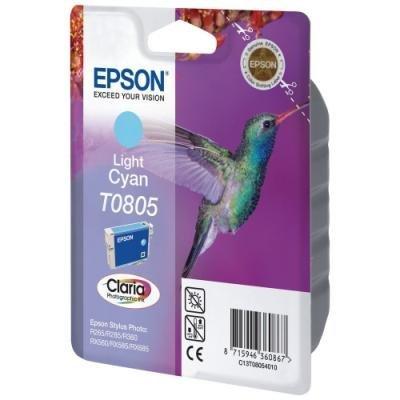Inkoustová náplň Epson T0805 světle modrá