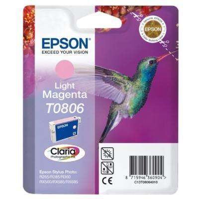 Inkoustová náplň Epson T0806 světlá červená