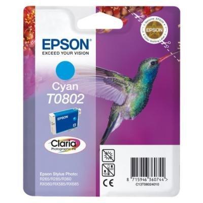 Inkoustová náplň Epson T0802 modrá