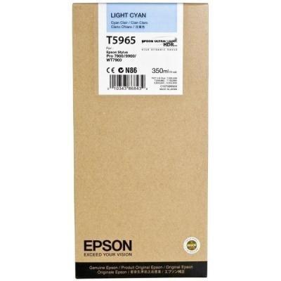 Inkoustová náplň Epson T5965 světlá modrá