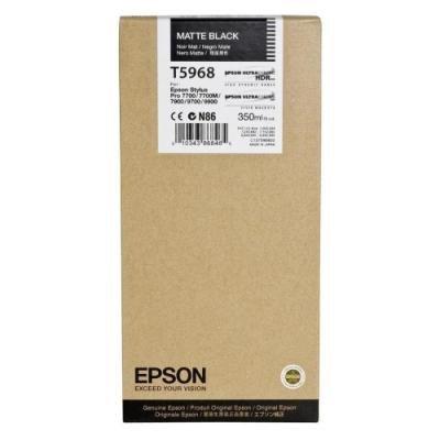 Inkoustová náplň Epson T5968 matná černá