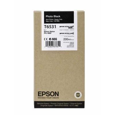 Inkoustová náplň Epson T6531 foto černá