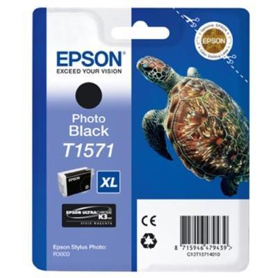 Inkoustová náplň Epson T1571 foto černá