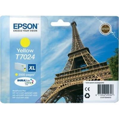 Inkoustová náplň Epson T7024 žlutá