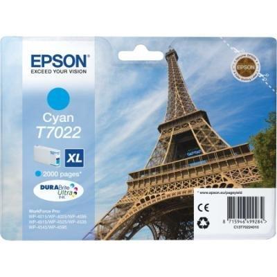 Inkoustová náplň Epson T7022 modrá