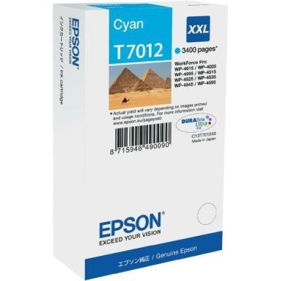 Inkoustová náplň Epson T7012 modrá