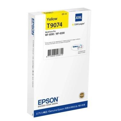 Inkoustová náplň Epson T9074 XXL žlutá
