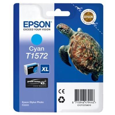 Inkoustová náplň Epson T1572 modrá