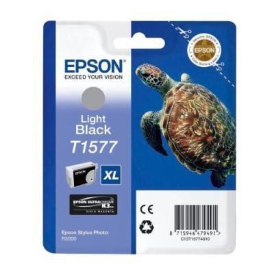 Inkoustová náplň Epson T1577 světlá černá