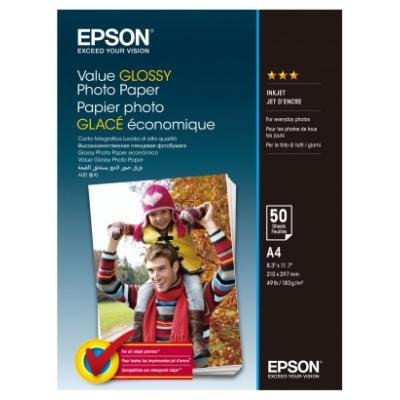EPSON fotopapír C13S400036/ A4/ Value Glossy Photo Paper / 50ks