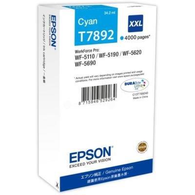 Inkoustová náplň Epson T7892 XXL modrá