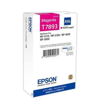 Inkoustová náplň Epson T7893 XXL purpurová