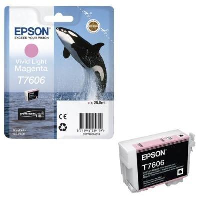 Inkoustová náplň Epson T7606 světlá jasná červená
