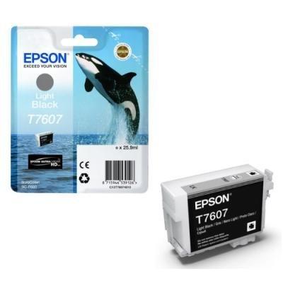 Inkoustová náplň Epson T7607 světlá černá