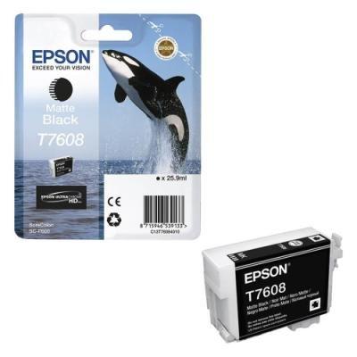 Inkoustová náplň Epson T7608 matná černá
