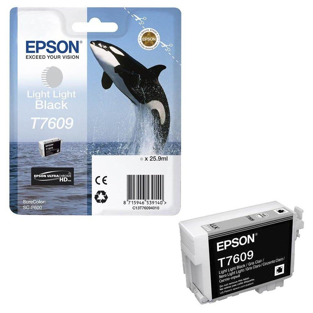 Inkoustová náplň Epson T7609 světle světlá černá