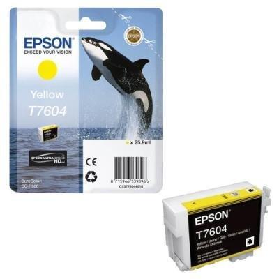 Inkoustová náplň Epson T7604 žlutá