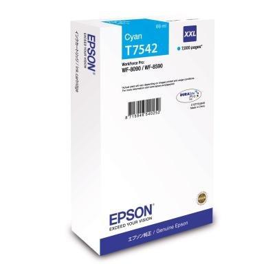 Inkoustová náplň Epson T7542 XXL modrá