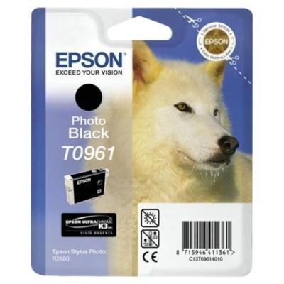 Inkoustová náplň Epson T0961 foto černá
