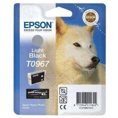 Inkoustová náplň Epson T0967 světlá černá