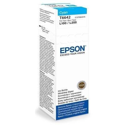 Epson inkoustová náplň/ C13T66424A/ L100/ L110/ L200/ L210/ L355/ L550/ 70ml/ Modrá