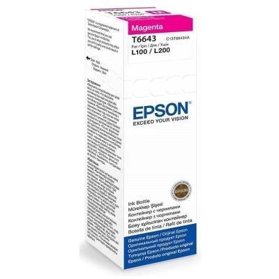 Epson inkoustová náplň/ C13T66434A/ L100/ L110/ L200/ L210/ L355/ L550/ 70ml/ Magenta