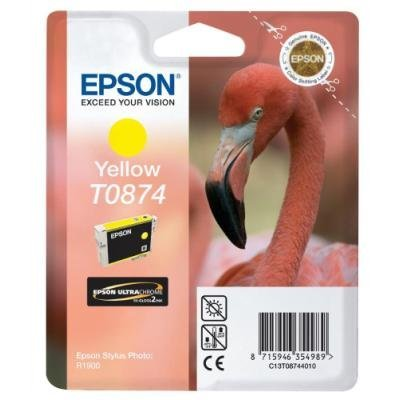 Inkoustová náplň Epson T0874 žlutá