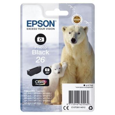 Inkoustová náplň Epson T2611 foto černá