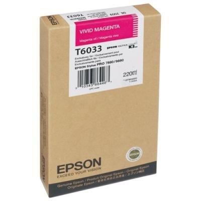 Inkoustová náplň Epson T6033 sytá červená