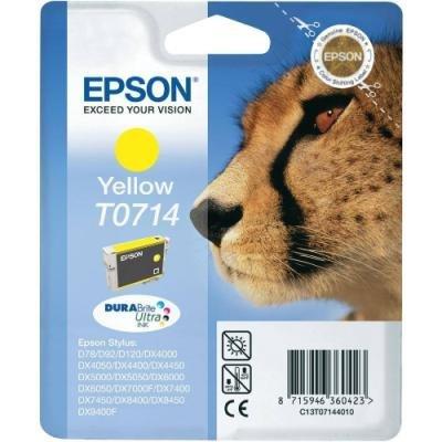 Inkoustová náplň Epson T0714 žlutá