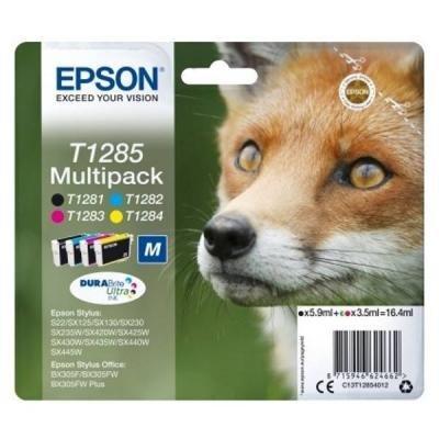 Epson inkoustová náplň/ T1285/ Multipack DURABrite Ultra Ink/ 4x barvy