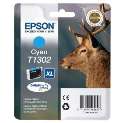 Inkoustová náplň Epson T1302 modrá